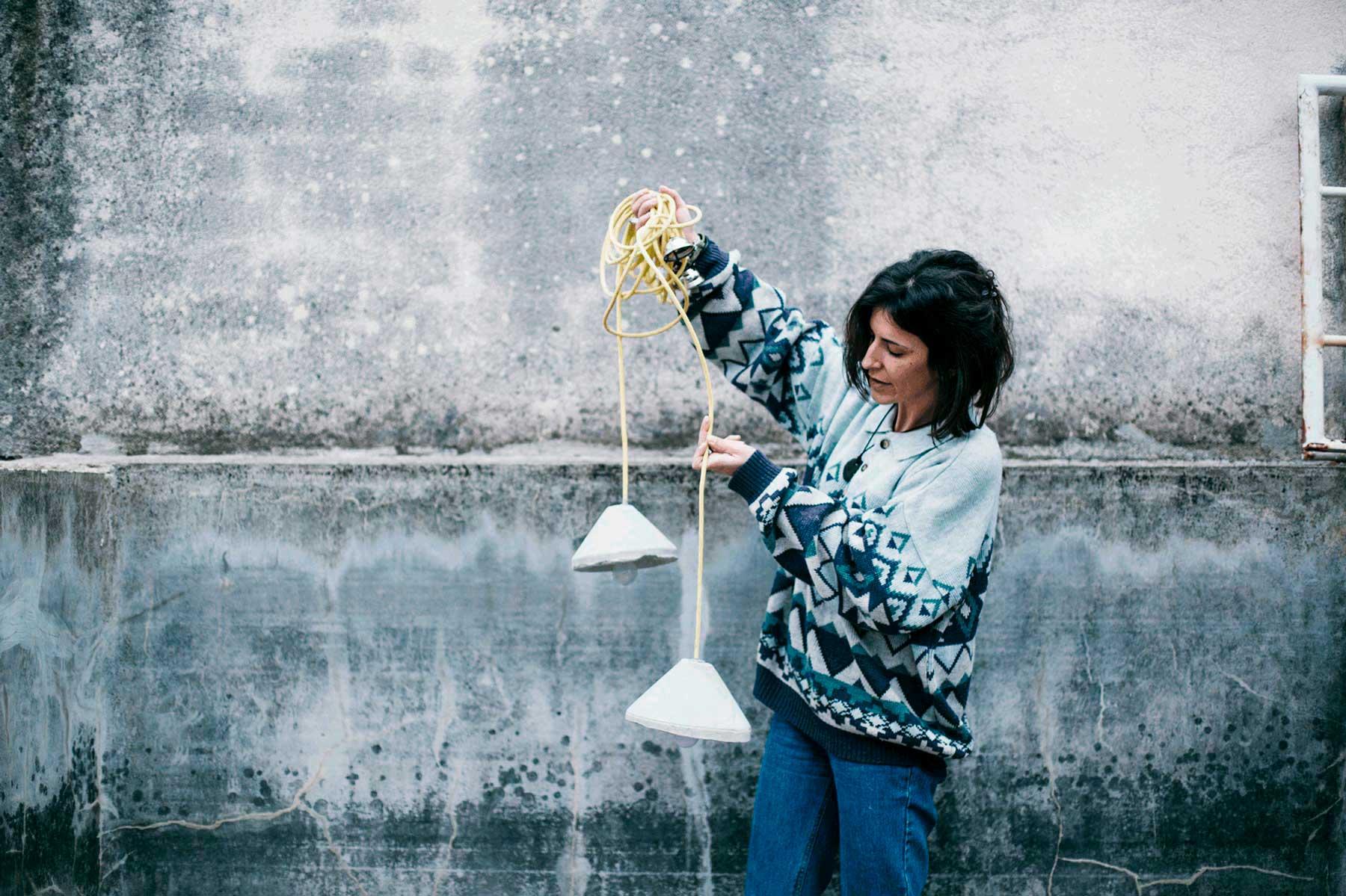 muestra del diseño de lampara de cenizas
