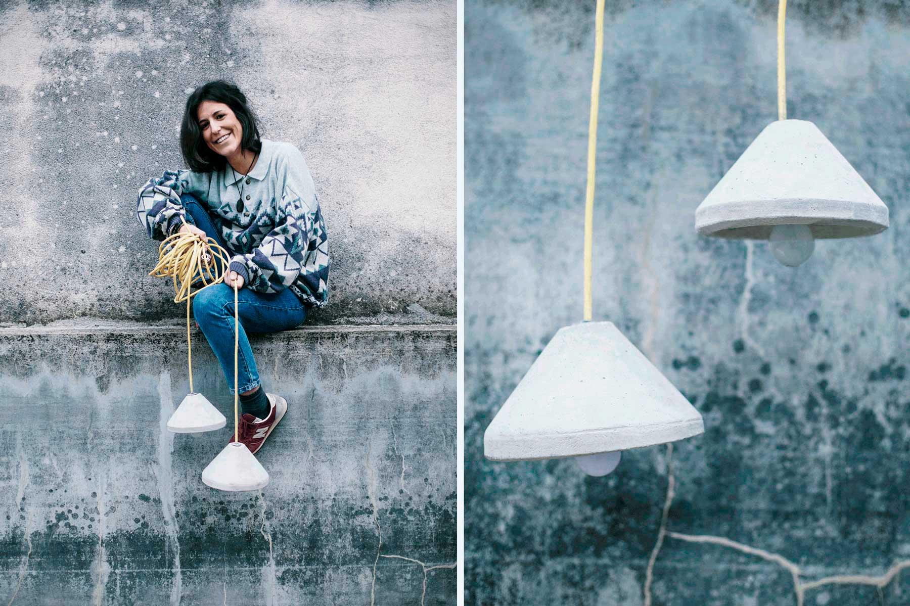diseño lampara de cenizas doble