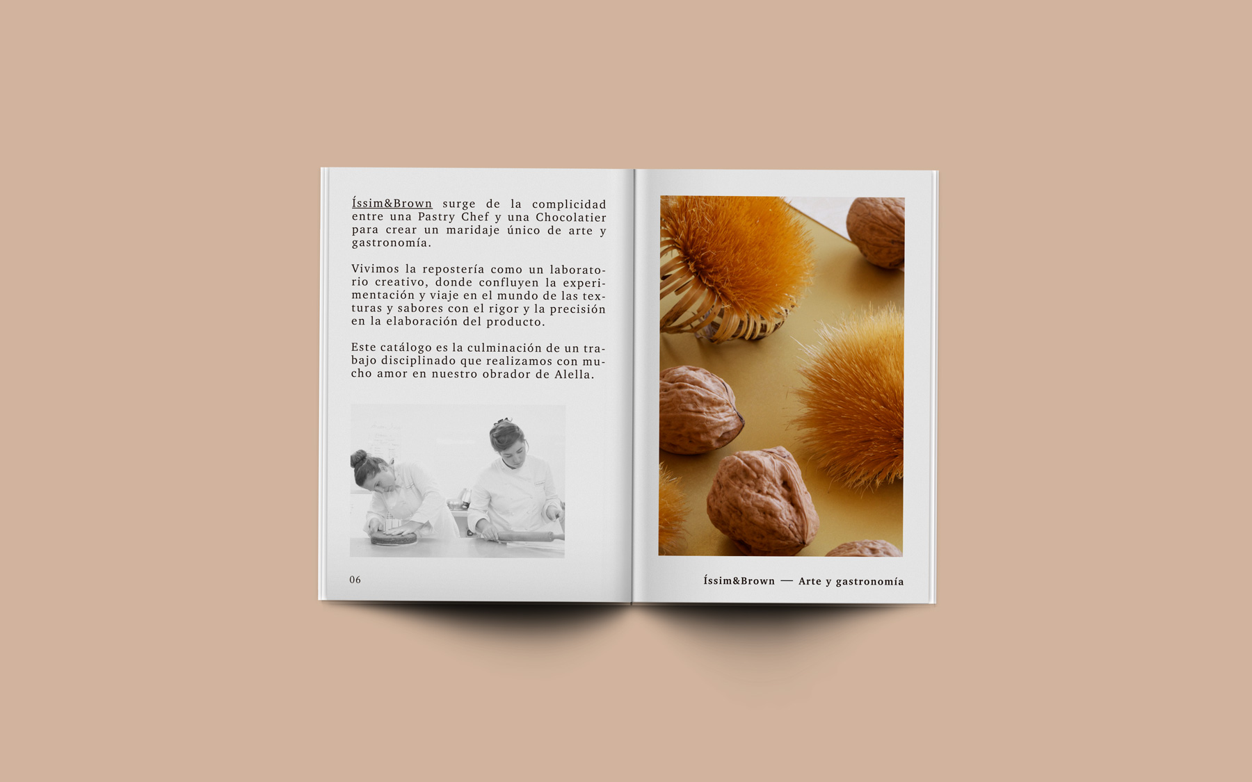 diseño editorial interior inspiracion catalogo trufas