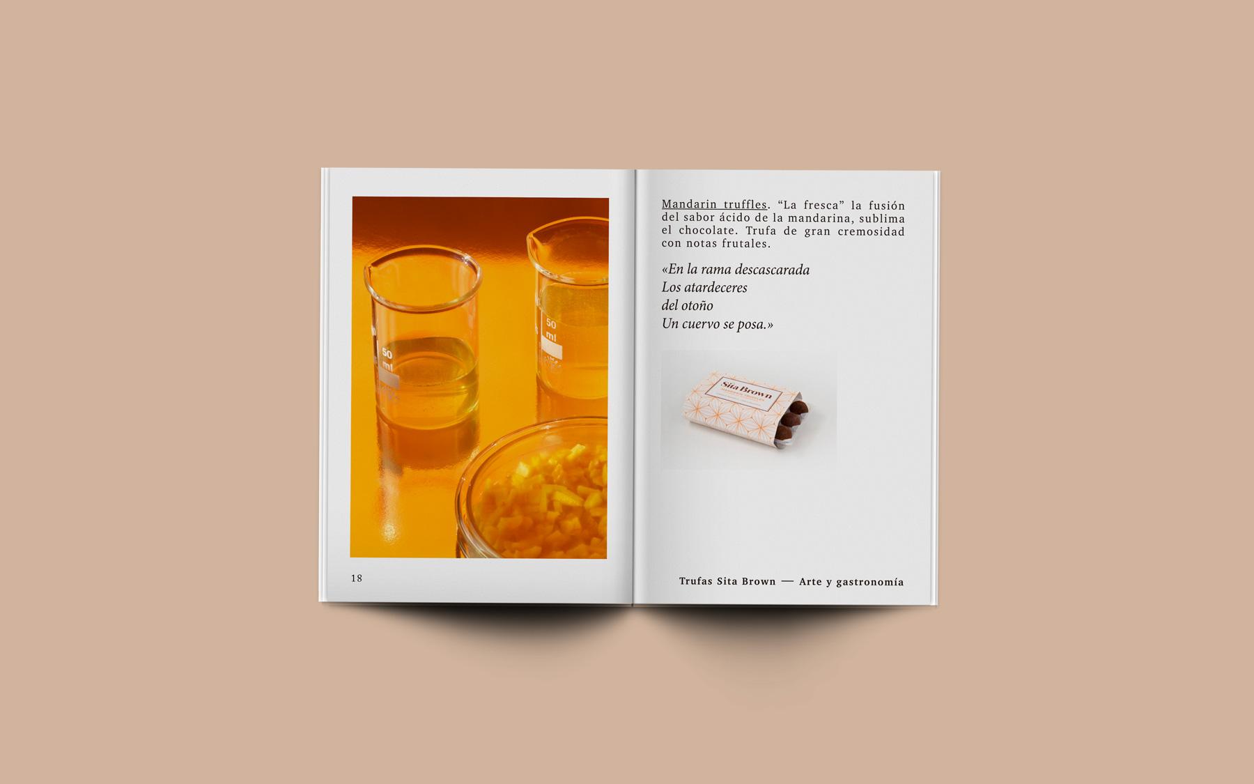 diseño editorial interior laboratorio trufas chocolate