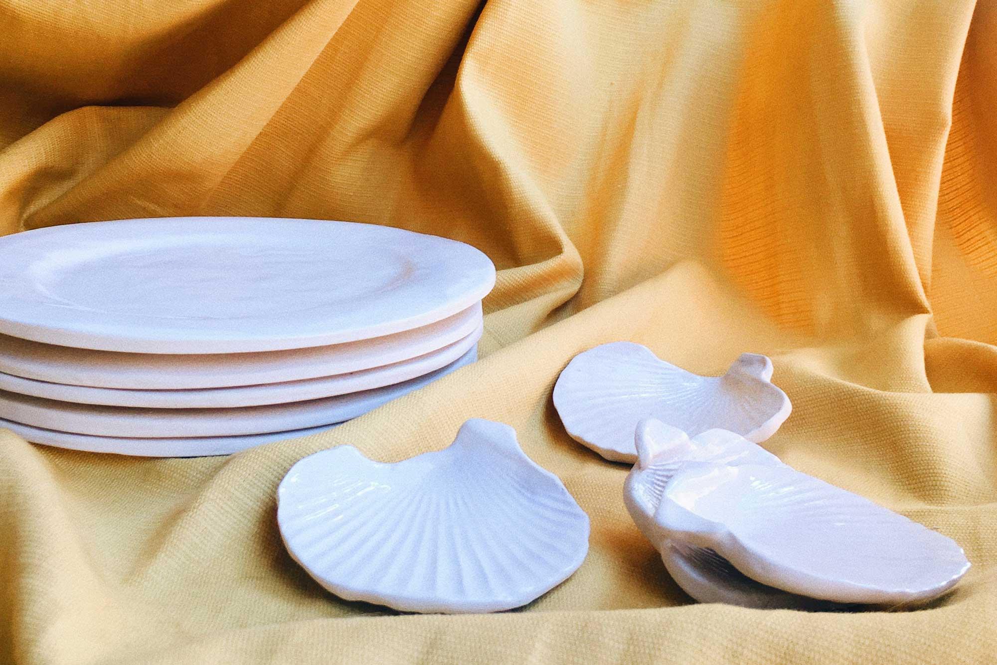 piezas conchas ceramica