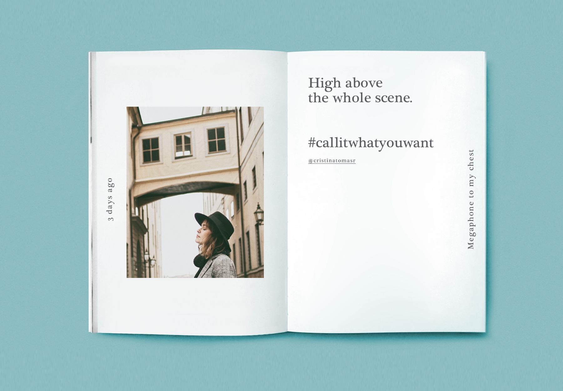 diseño editoriarl interior fanzine
