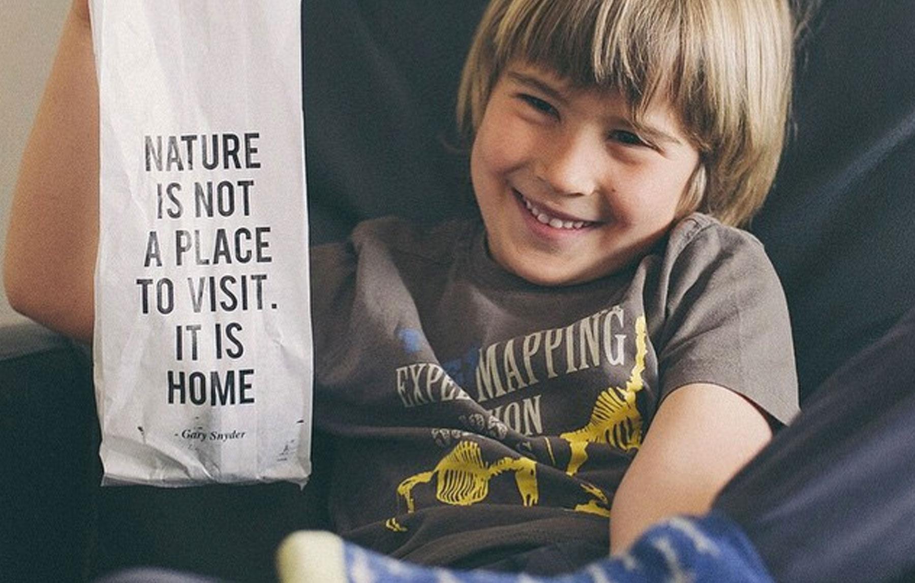 publicacion giving nature niño mensaje