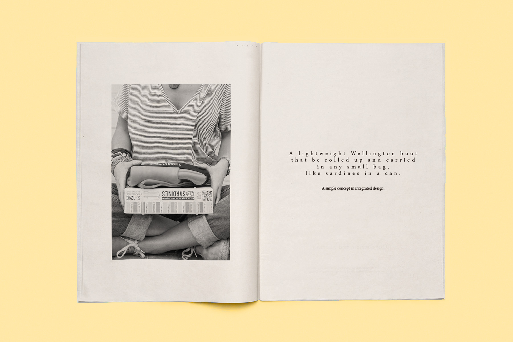 diseño interior catalogo editorial botas agua sardines
