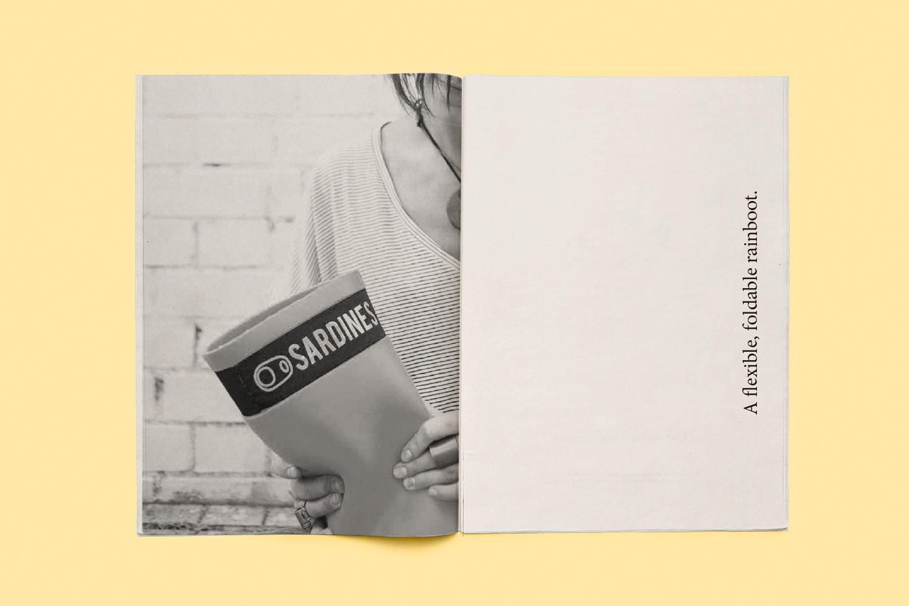 interior diseño editorial catalogo botas agua sardines
