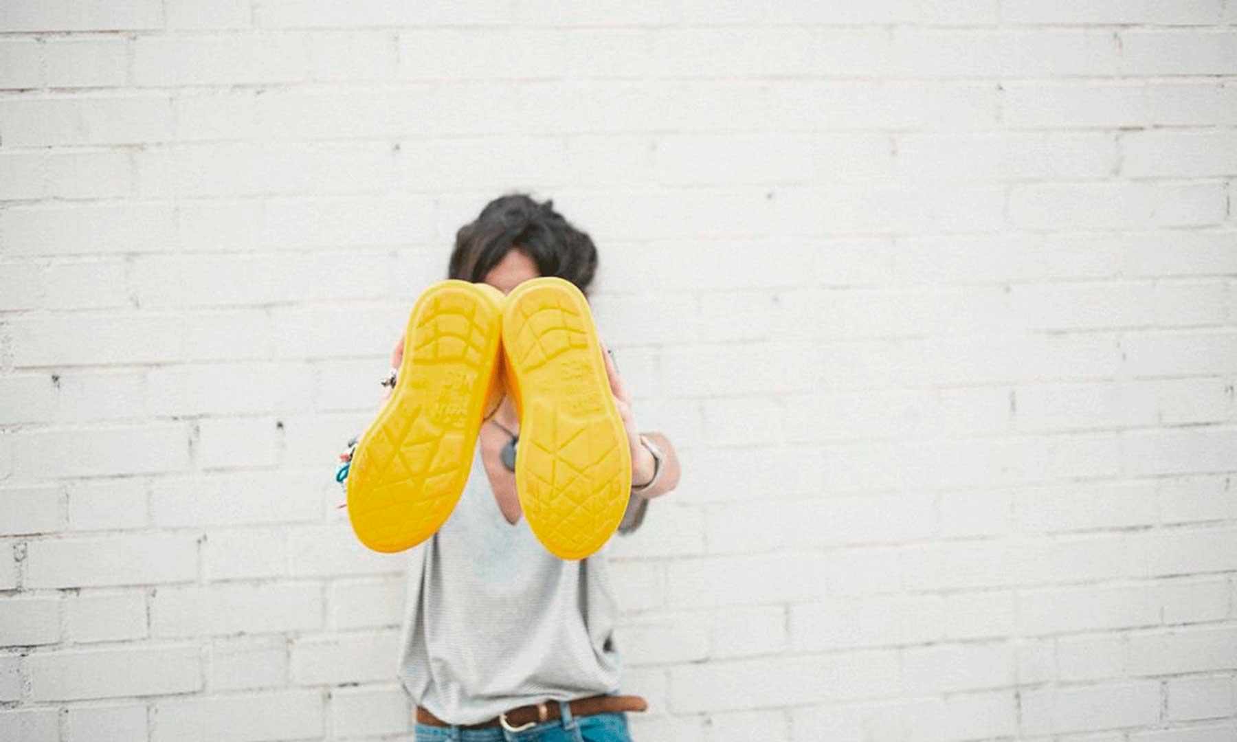 botas de agua plegables detalle suela