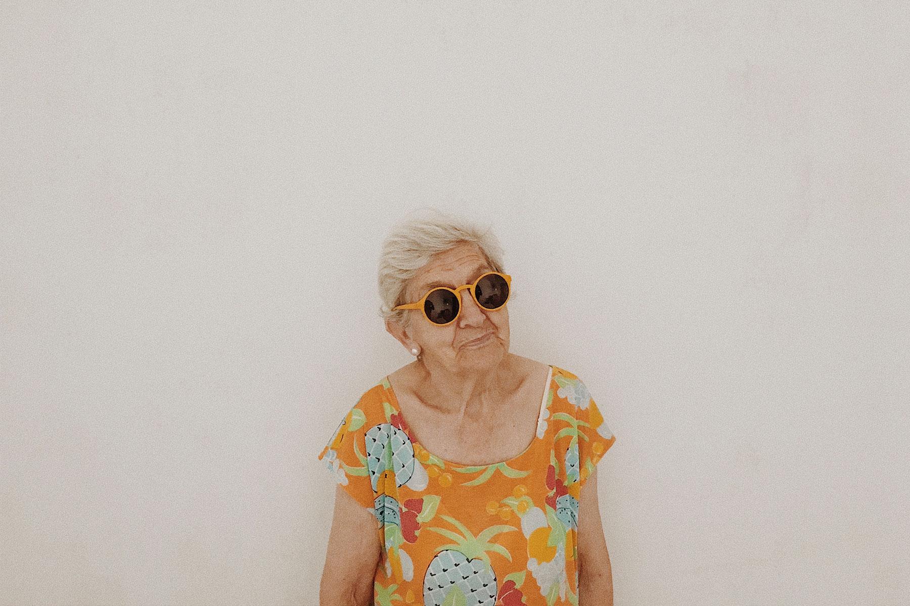 modelo abuela gafas sol 3d printed
