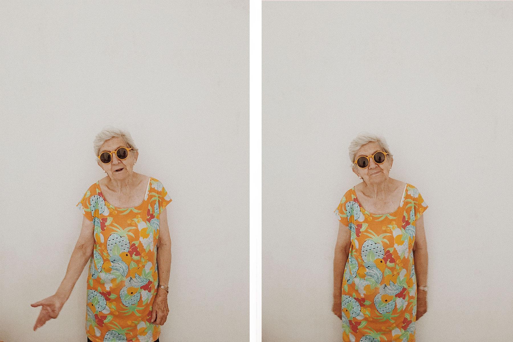 modelo abuela gafas sol