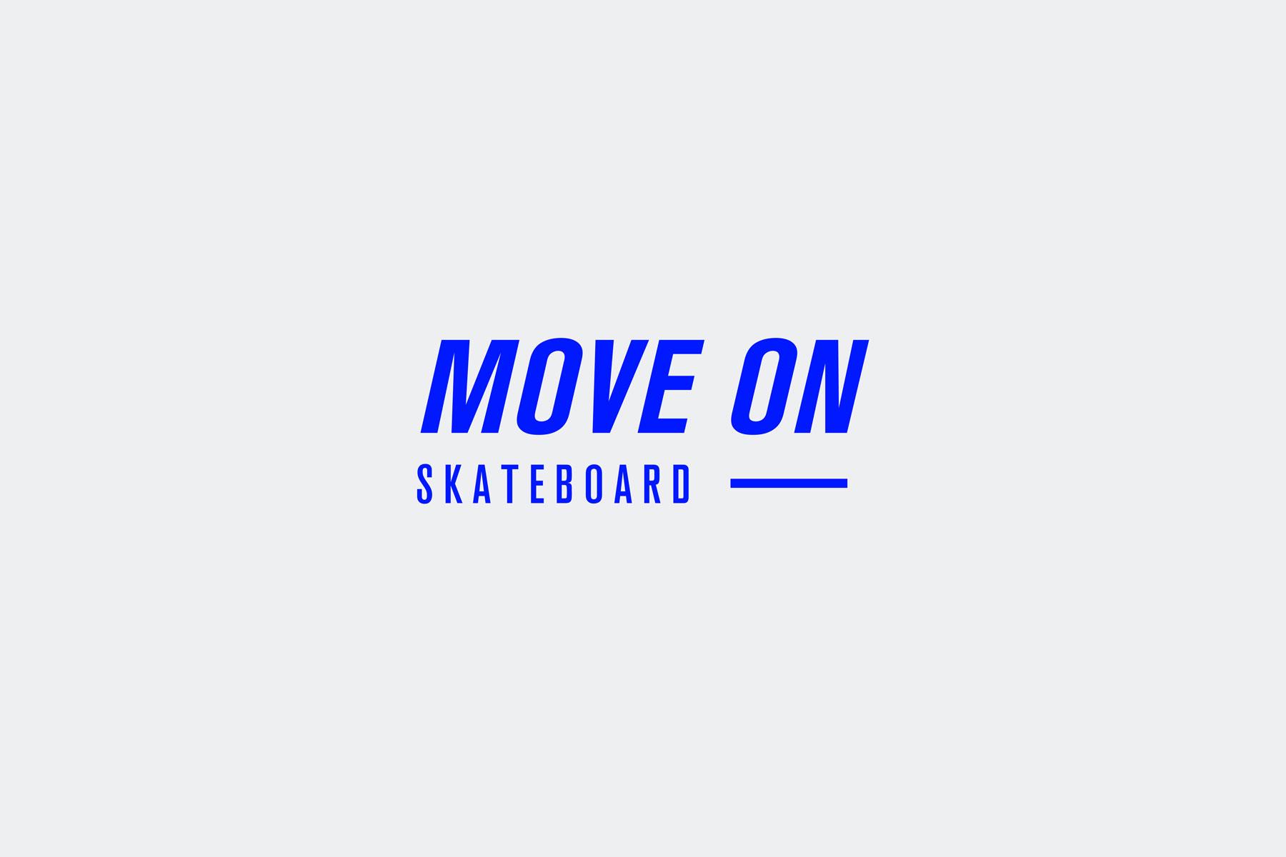 diseño logotipo skateboard azul positivo