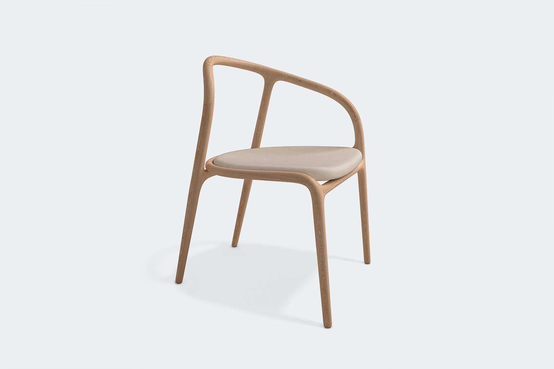 detalle diseño silla manca de madera