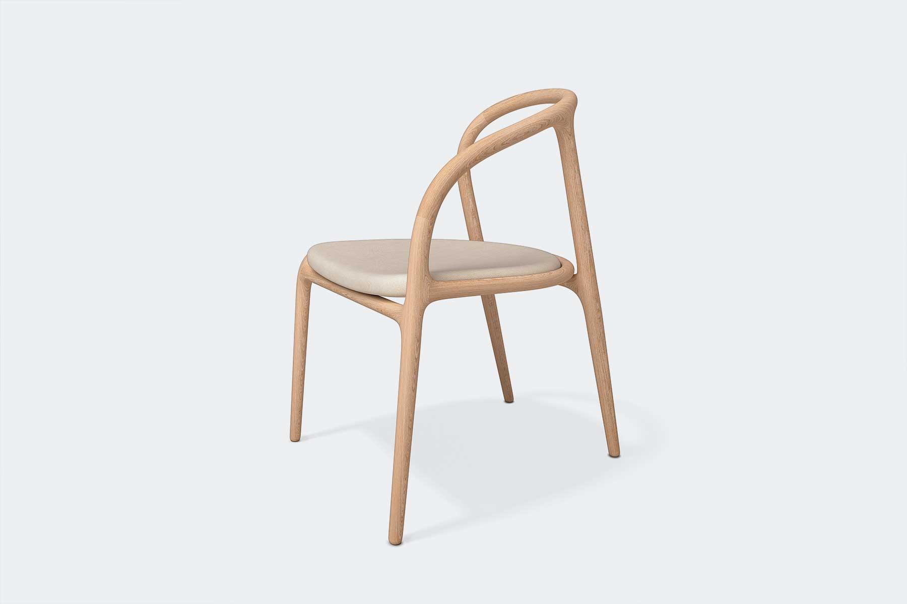 detalle lateral diseño calido silla manca