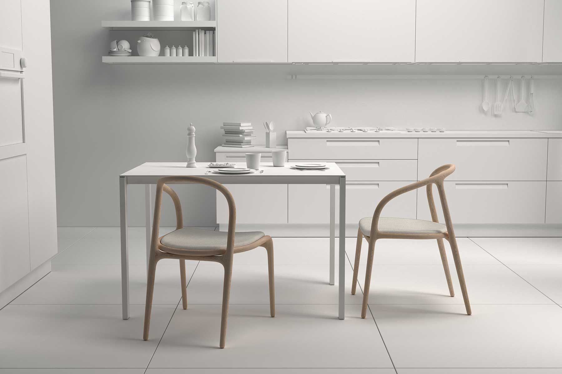 diseño silla comedor escena