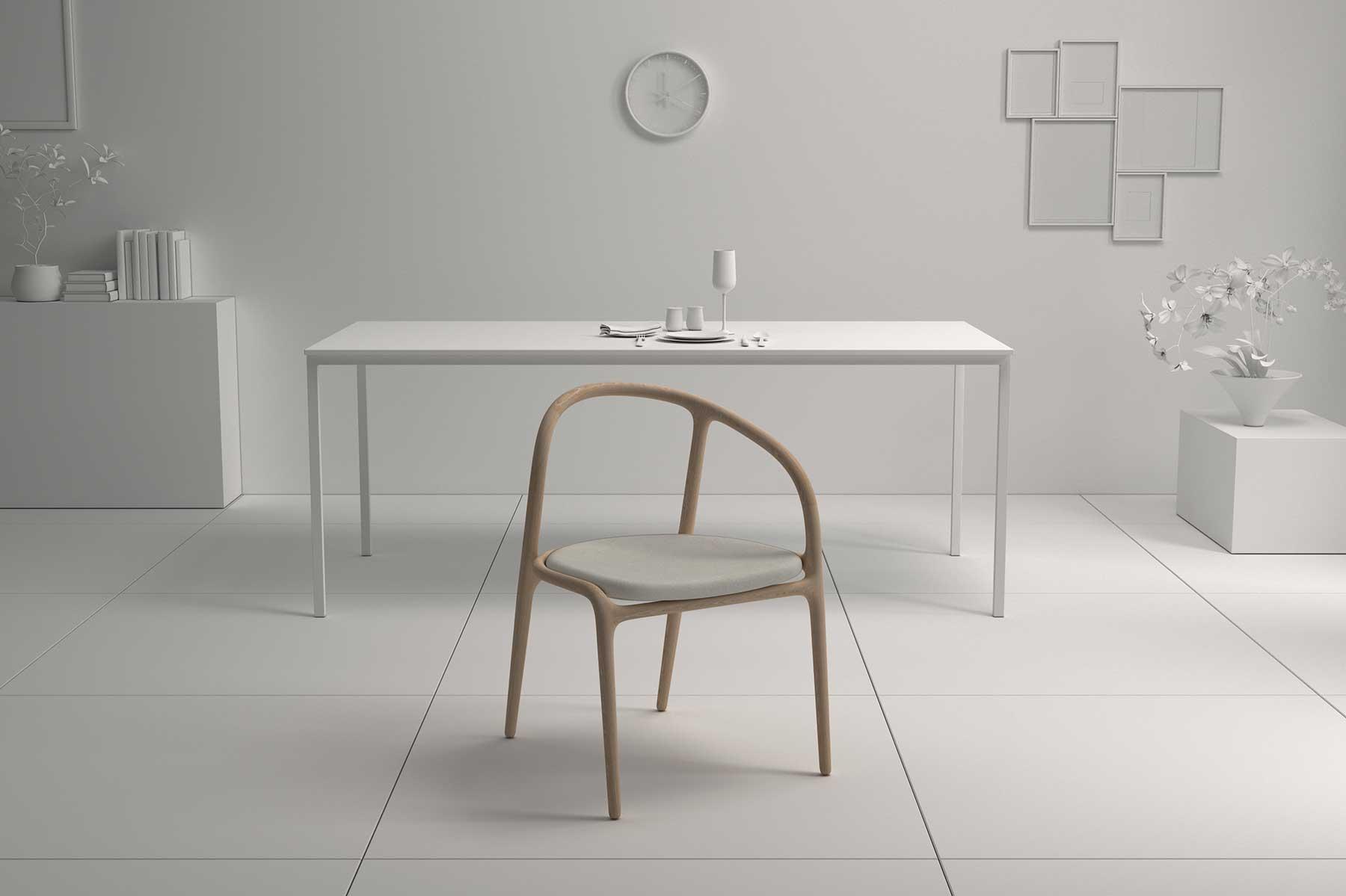 silla sin brazo diseño producto madera elegante